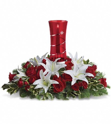 Teleflora's Wondrous Night Centerpiece in Oklahoma City OK, Array of Flowers & Gifts