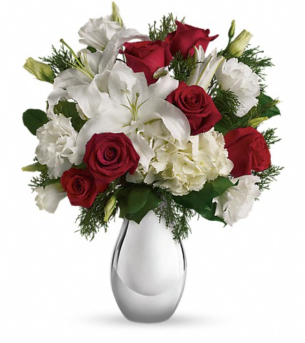 Teleflora's Silver Noel Bouquet in Morgantown WV, Coombs Flowers