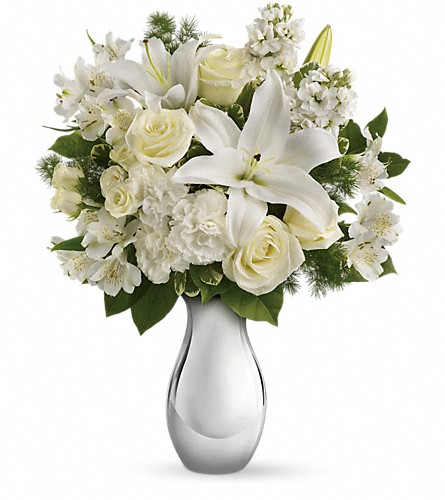 Teleflora's Shimmering White Bouquet in Fort Washington MD, John Sharper Inc Florist