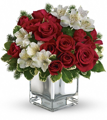 Teleflora's Christmas Blush Bouquet in Meadville PA, Cobblestone Cottage and Gardens LLC