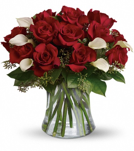 Be Still My Heart - Dozen Red Roses in Santa Monica CA, Edelweiss Flower Boutique