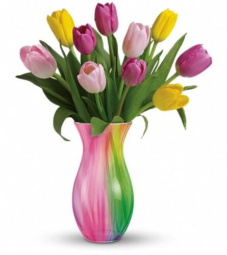 Teleflora 39 S Spring Rainbow Bouquet Teleflora 39 S Spring