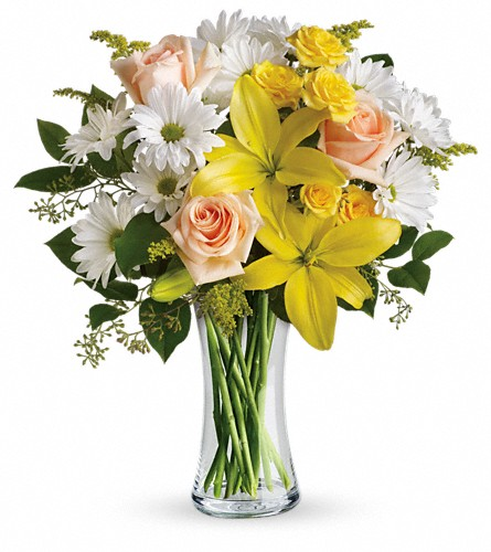 Teleflora's Daisies and Sunbeams in Sunnyvale TX, The Wild Orchid Floral Design & Gifts