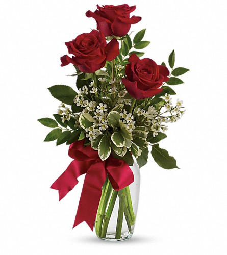 Thoughts of You Bouquet with Red Roses in Reno NV, Bumblebee Blooms Flower Boutique