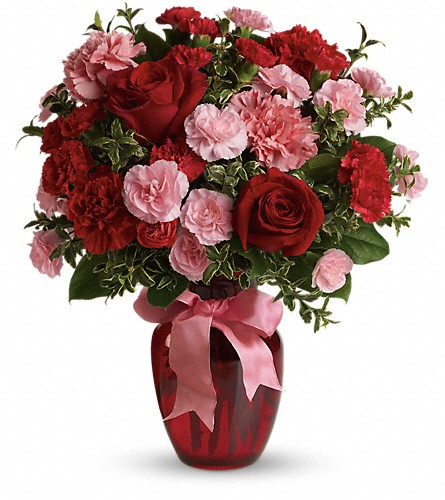 Dance with Me Bouquet with Red Roses in Oklahoma City OK, Array of Flowers & Gifts