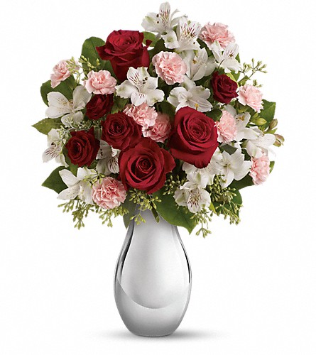 Teleflora's Crazy for You Bouquet with Red Roses in Meadville PA, Cobblestone Cottage and Gardens LLC