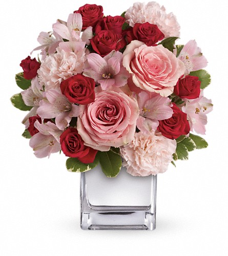 Teleflora's Love That Pink Bouquet with Roses in Reading PA, Heck Bros Florist