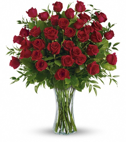 Breathtaking Beauty - 3 Dozen Long Stemmed Roses in Santa Monica CA, Edelweiss Flower Boutique