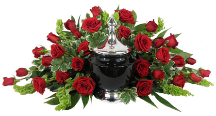 Signature Collection 30 Rose Cremation Setting in Denver CO, Lehrer's Flowers