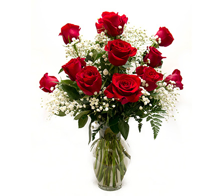 Deluxe Dozen Roses in Amherst NY, The Trillium's Courtyard Florist