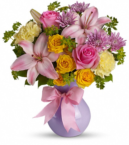 Teleflora's Perfectly Pastel in Royersford PA, Three Peas In A Pod Florist
