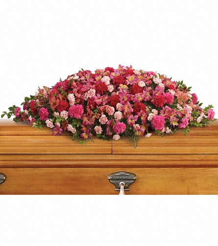 A Life Loved Casket Spray in Terrace BC, Bea's Flowerland