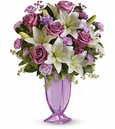 Teleflora's Lavender Love Bouquet in San Fernando CA, A Flower Anytime