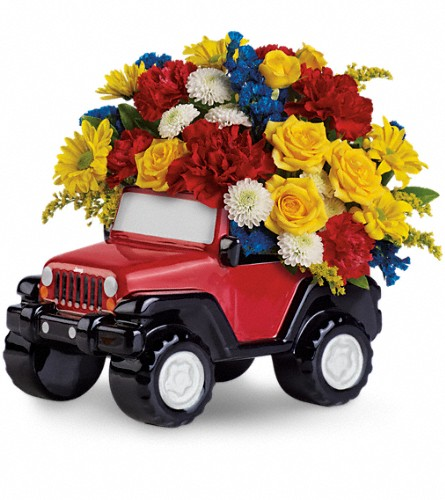 Jeep Wrangler King Of The Road by Teleflora in Manassas VA, Flower Gallery Of Virginia