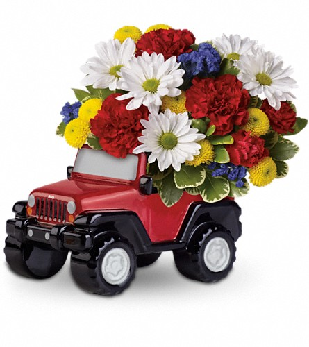 Jeep Wrangler Blazing Trails Bouquet by Teleflora in Muskogee OK, Bebb's Flowers