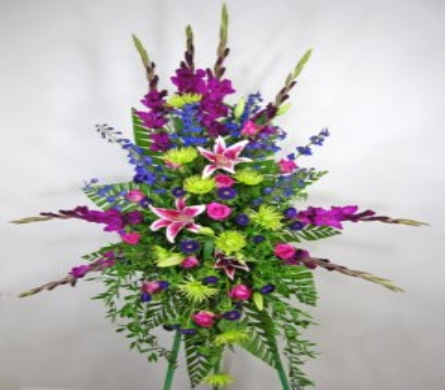 Bright and Beautiful Standing Spray in Washington DC, Palace Florists