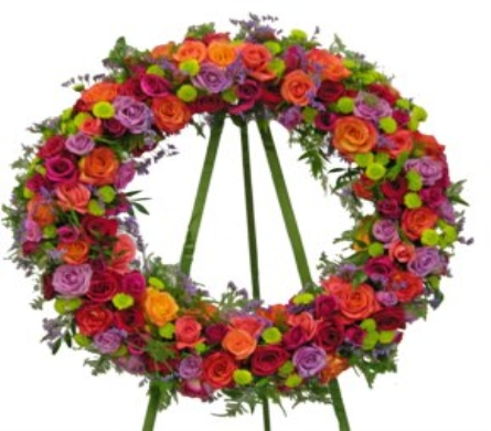 Victorian Garden Wreath in Washington DC, Palace Florists