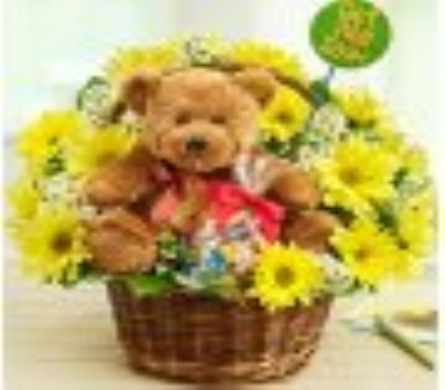 Букеты из цветов с игрушками