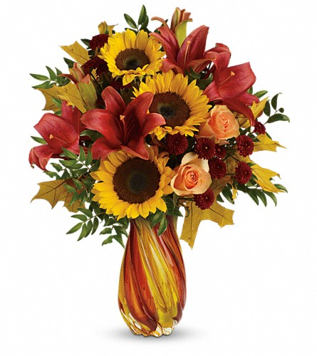 Teleflora's Autumn Beauty Bouquet in Oklahoma City OK, Array of Flowers & Gifts