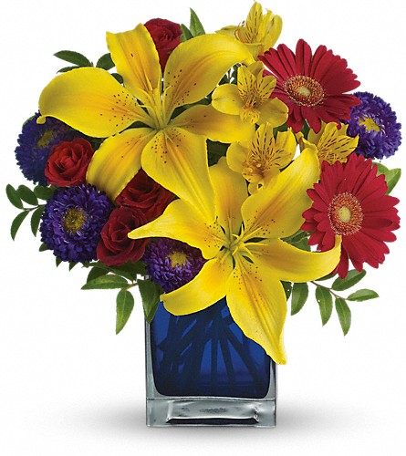 Teleflora's Blue Caribbean in Oklahoma City OK, Array of Flowers & Gifts