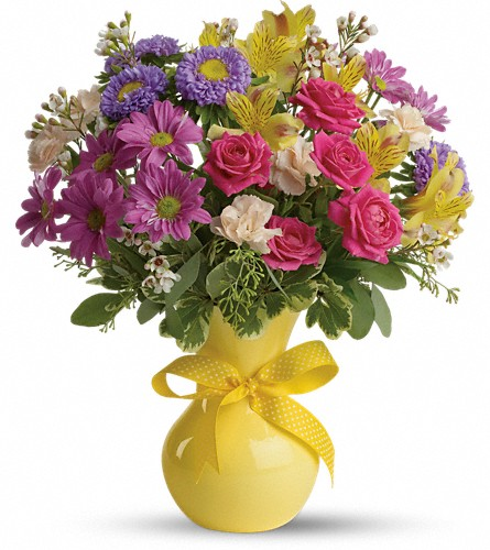 Teleflora's Color It Happy in San Antonio TX, Spring Garden Flower Shop