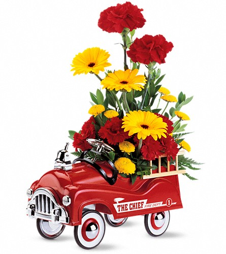 Teleflora's Fire Engine Bouquet in Westminster CA, Dave's Flowers