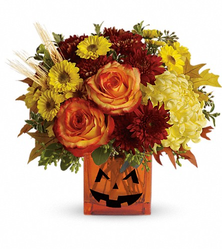 Teleflora's Halloween Glow in Port Chester NY, Floral Fashions