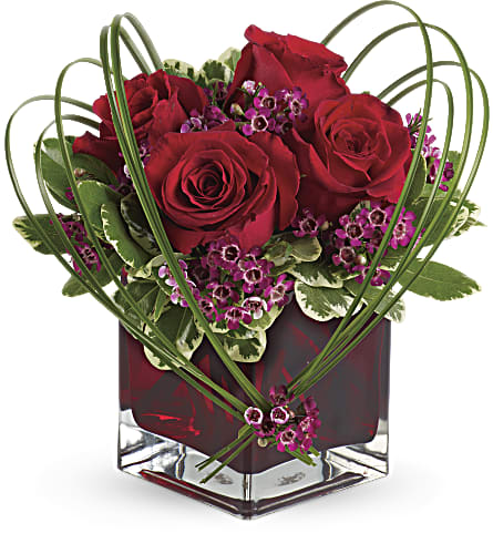 Teleflora's Sweet Thoughts Bouquet with Red Roses in Brooklyn NY, Artistry In Flowers
