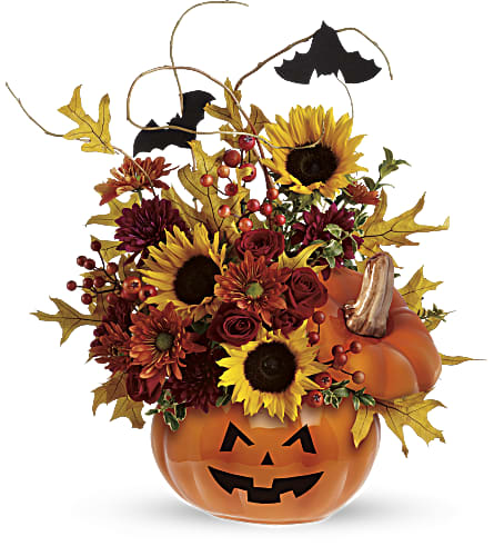 Teleflora's Trick & Treat Bouquet in Eugene OR, Dandelions Flowers