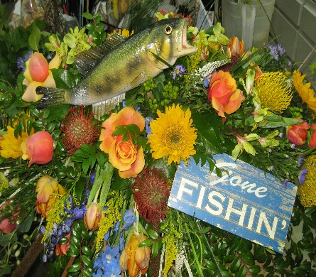 Fisherman Casket Cover In Chattanooga Tn Flowers By Gil