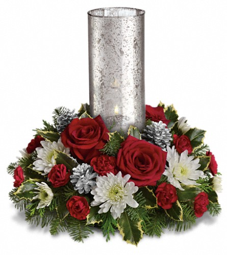 Let s be merry centerpiece by teleflora in paddock lake wi