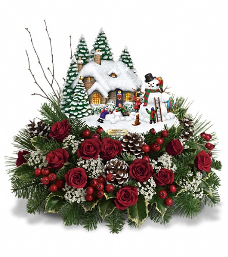 Thomas Kinkade's Winter Wonder by Teleflora in Oakley CA, Good Scents