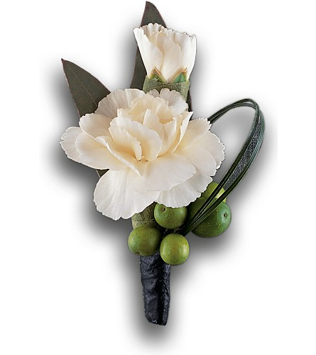 Carnation and Berries Boutonniere in Palm Springs CA, Palm Springs Florist, Inc.