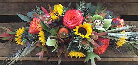Thanksgiving centerpiece in Napa CA, Beau Fleurs Napa Valley Flowers