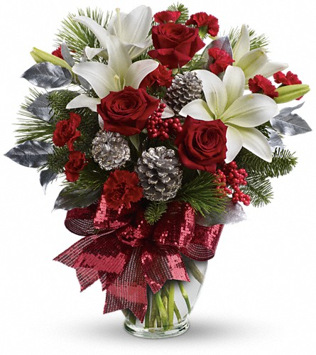 Holiday Enchantment Bouquet in Garden City NY, Hengstenberg's Florist Inc.