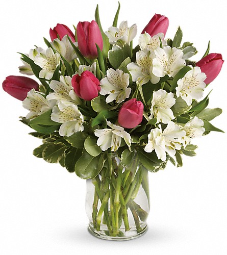 Spring Romance Bouquet in Jamestown NY, Girton's Flowers & Gifts, Inc.