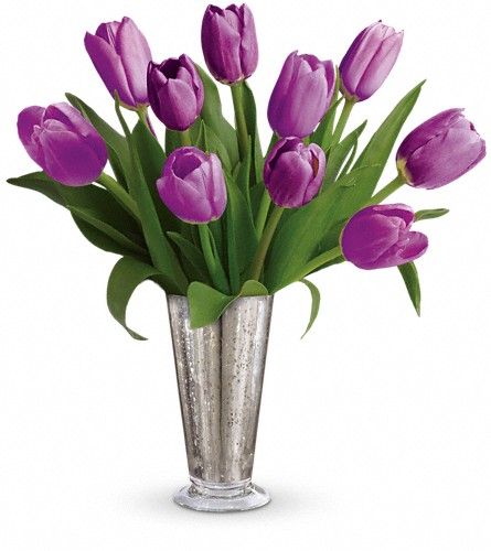 Tantalizing Tulips Bouquet by Teleflora in Lexington KY, Oram's Florist LLC