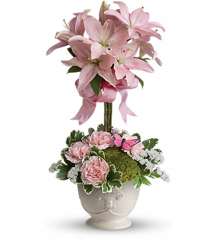 Teleflora's Blushing Lilies in Maple ON, Irene's Floral