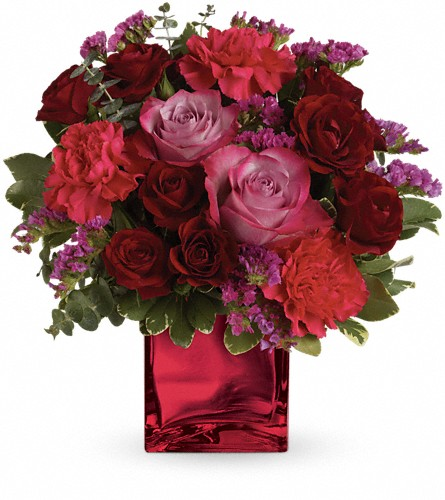 Teleflora's Ruby Rapture Bouquet in Fremont CA, Kathy's Floral Design