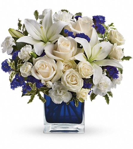 Teleflora's Sapphire Skies Bouquet in Bristol TN, Misty's Florist & Greenhouse Inc.