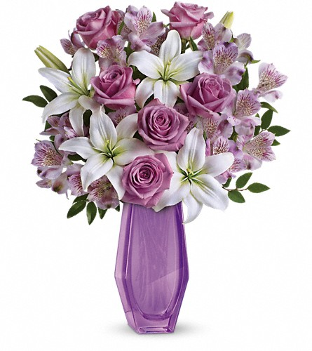 Teleflora's Lavender Beauty Bouquet in Flint MI, Curtis Flower Shop