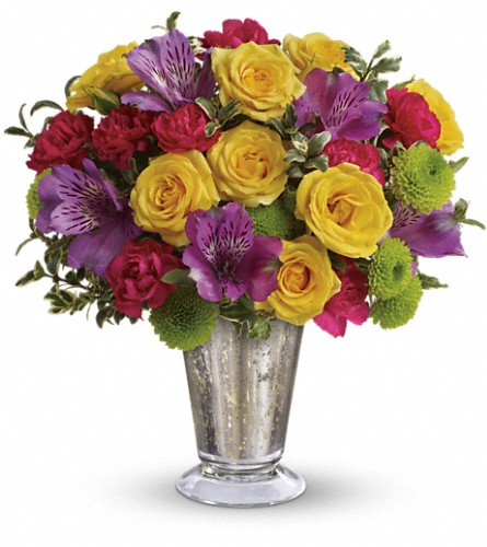 Teleflora's Fancy That Bouquet in Plymouth WI, Cain's Bridal Wreath