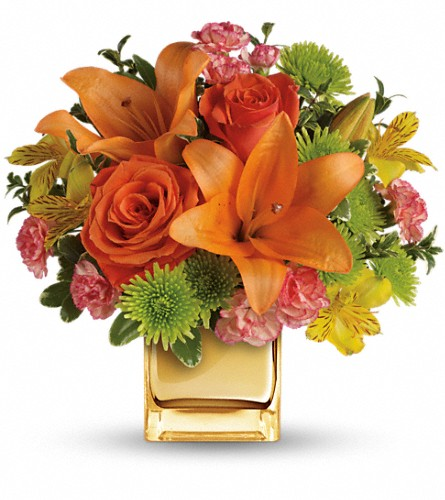 Teleflora's Tropical Punch Bouquet in Ridgefield CT, Rodier Flowers