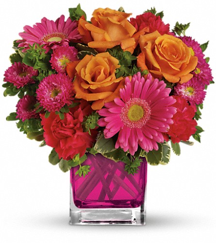 Teleflora's Turn Up The Pink Bouquet in Worcester MA, Perro's Flowers