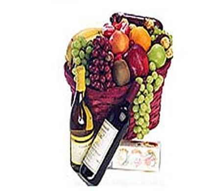 Allen''s Deluxe Wine Basket in San Antonio TX, Allen's Flowers & Gifts