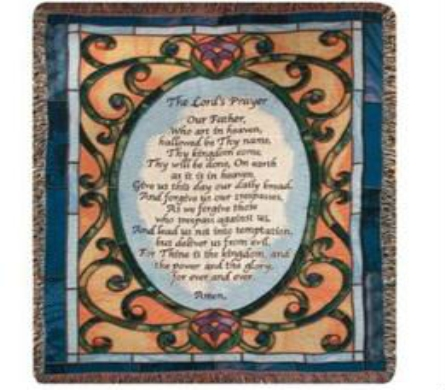 Lord's Prayer Stained Glass Throw in Perrysburg & Toledo OH  OH, Ken's Flower Shops