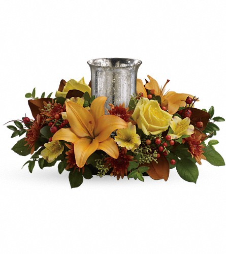Glowing Gathering Centerpiece by Teleflora in Lexington KY, Oram's Florist LLC