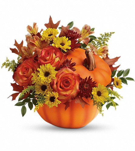 Teleflora's Warm Fall Wishes Bouquet in Brewster NY, The Brewster Flower Garden