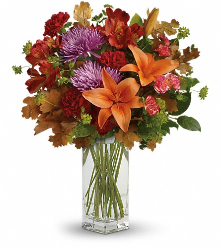 Teleflora's Fall Brights Bouquet in Chelsea MI, Chelsea Village Flowers
