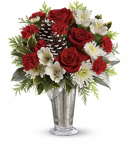 Teleflora's Timeless Cheer Bouquet in Conway AR, Ye Olde Daisy Shoppe Inc.